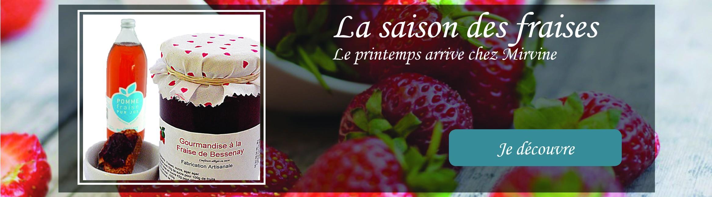 Jus de fruits et confitures de fraises