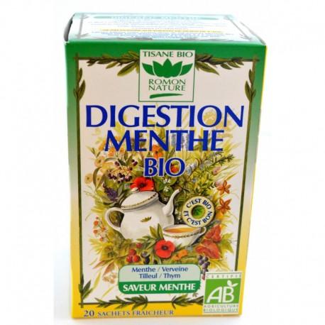 Tisanes digestion menthe, 20 sachets - Romon Nature