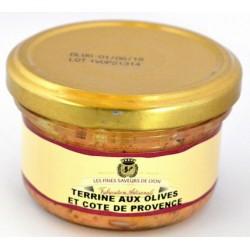 Terrine aux olives et Cotes de Provence 90g - Fines Saveurs de Lyon