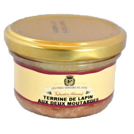 Terrine de lapin aux deux moutardes 90g - Mirvine