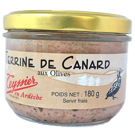 Terrine de canard aux olives 180g - Mirvine