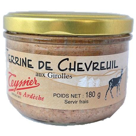 Terrine de chevreuil aux girolles 180g - Teyssier