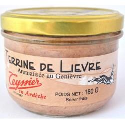 Terrine de lièvre au genièvre 180g - Teyssier