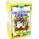 Tisanes digestion citron BIO boite 20 infusettes - Mirvine