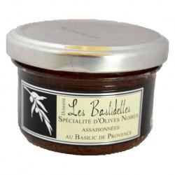 Spécialité à base d'olives noires et basilic