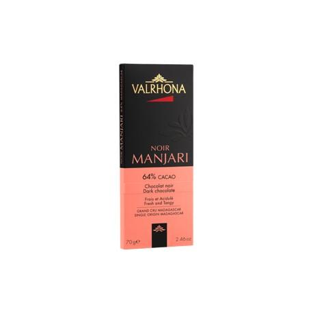 Tablette Valrhona MANJARI noir 70g