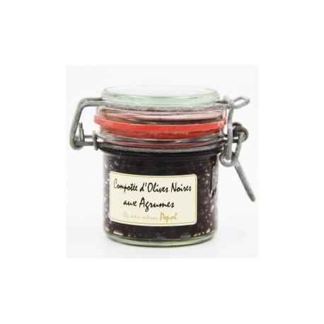 Compotée d'olives noires aux agrumes