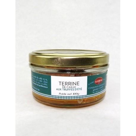 Terrine de caille aux Truffes d'été 90g Sudreau - Mirvine