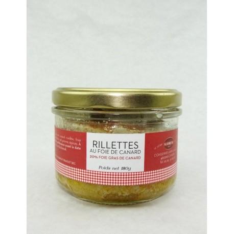 Rillettes de canard 20% bloc de foie gras - Sudreau