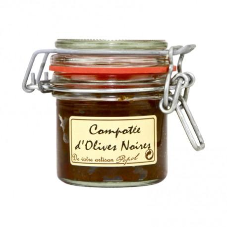 Compotée d'olives noires 90g