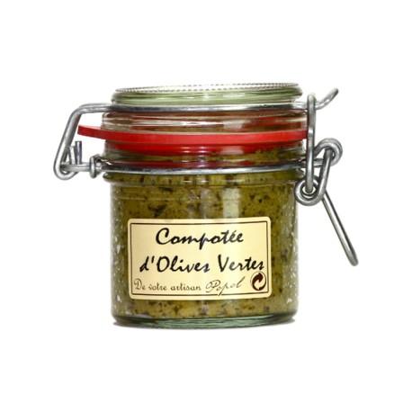 Compotée d'olives vertes 90g