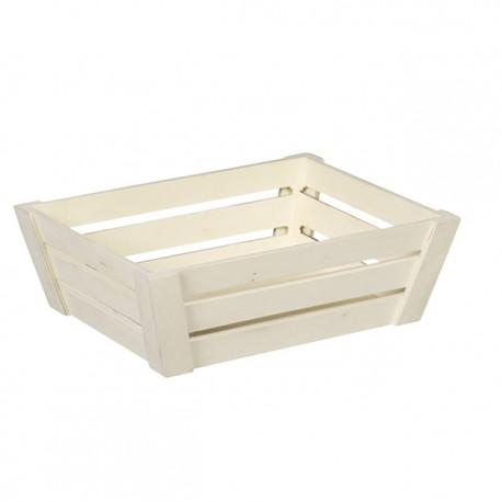Corbeille rectangle bois