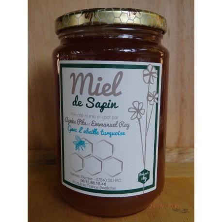 """Miel de Sapin """"l'Abeille Turquoise"""" 1kg"""