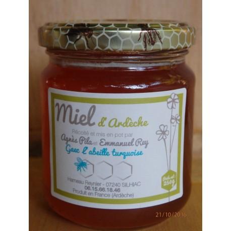 """Miel d'Ardèche """"L'Abeille Turquoise"""" 250g"""