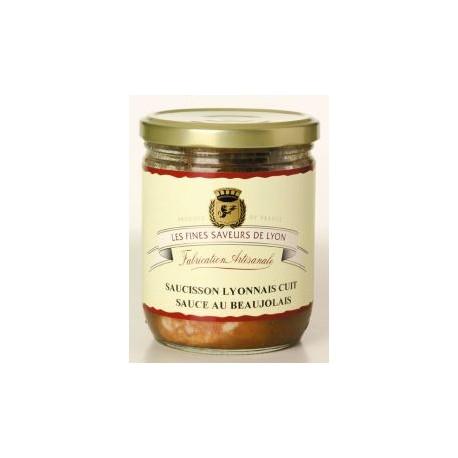 Saucisson de Lyon cuit sauce au Beaujolais