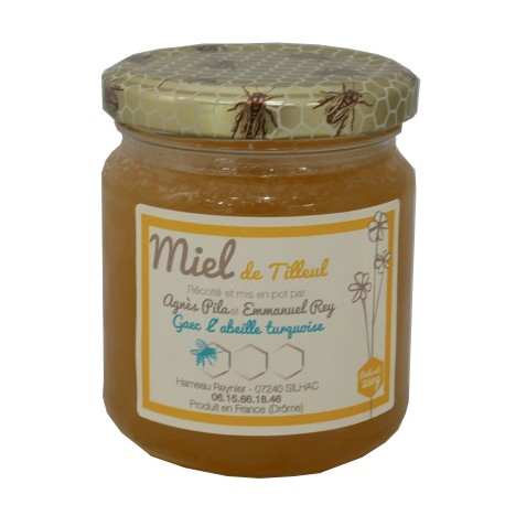 """Mirvine : Miel de Tilleul """"L'Abeille Turquoise"""" 250 g"""