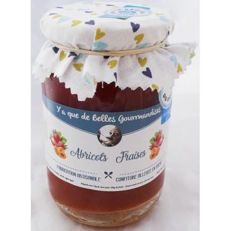 Mirvine : Gourmandise à l'abricot et à la fraise 420g