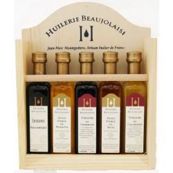 Mirvine : Coffret huiles-vinaigres 5 bouteilles