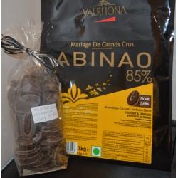 Tablette Valrhona ABINAO noir
