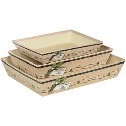 Corbeille rectangle carton