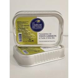 Parpelettes de thon blanc Germon à l'huile d'olive Bio - La Compagnie Bretonne