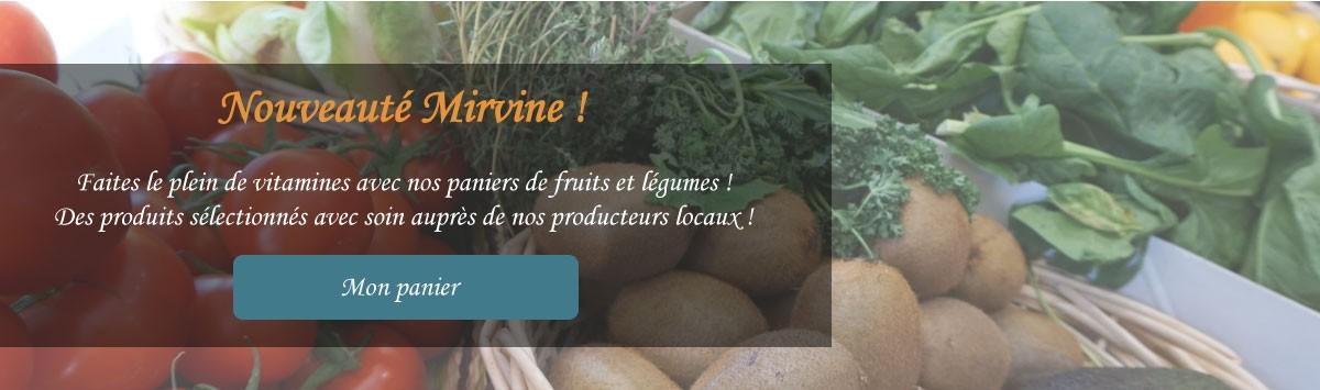 Mirvine épicerie fine lance ses paniers de fruits et légumes frais, locaux, de saison et délicieux.