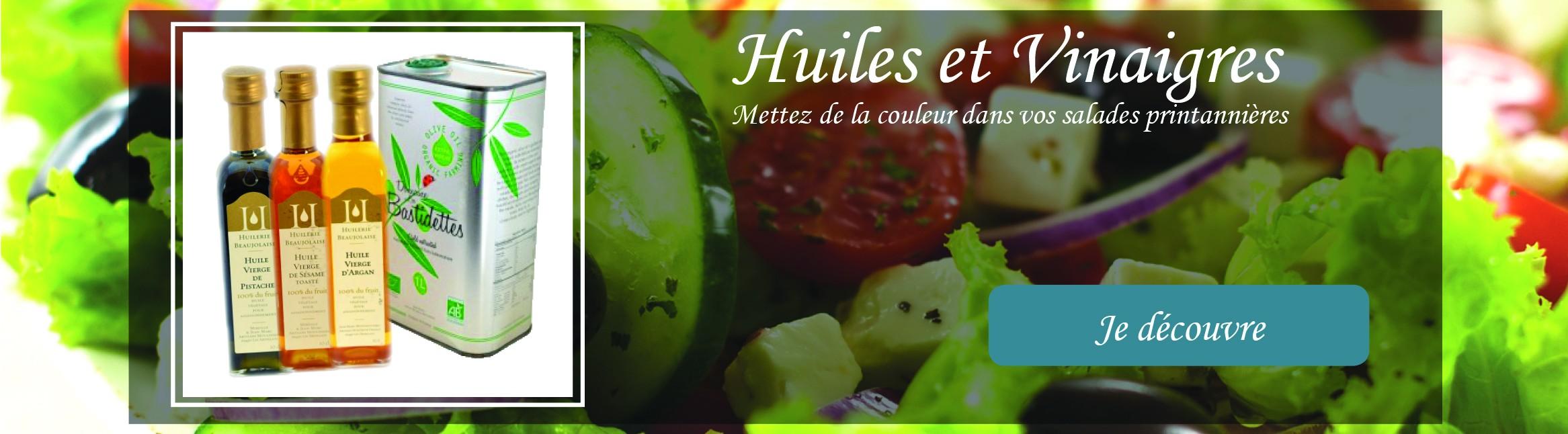 Huiles et vinaigres artisanaux Made in France pour donner des couleurs à vos salades d'été