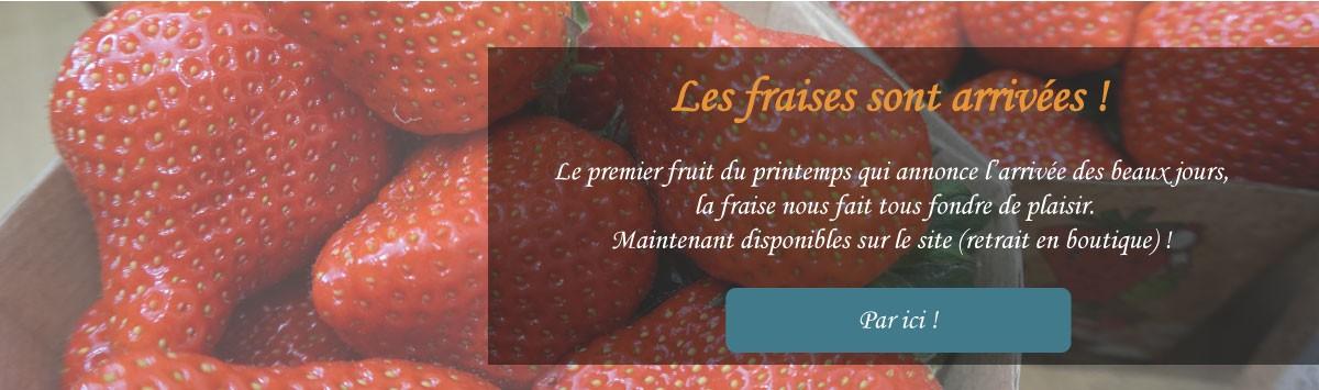Les premières fraises françaises de la région lyonnaise arrivent chez Mirvine